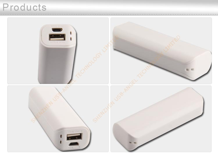 Factory custom high quality 2600mAh power bank with cheap price for phones