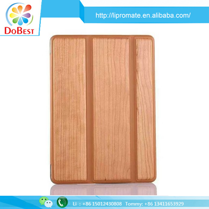 Hot New Product Leather Tablet Cover Case in real wood style