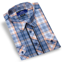 Double Pocket with flaps Check Casual Shirt