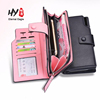 Multi-functional large-capacity buckle long section zipper wallet