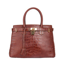 100% genuine leather bueno handbag lady fashion luxury crocodile women's bag