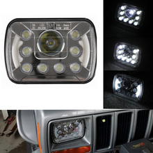 "5x7"" halo headlight seal beam led 7"" H4 10v 30v Jeep headlight 5x7 with high low beam"