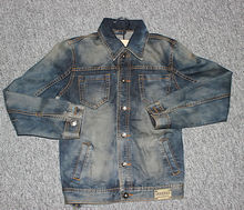 Balloon Fantasy Jeans & Jean Jacket with Leather Sleeves for Men