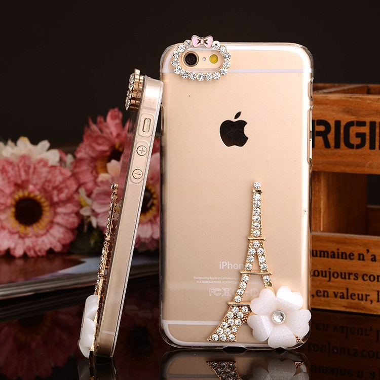 for iphone 4/4s/5//5s/6/6 plus luxury cell phone rhinestone cover