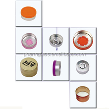 colorful aluminum cap for glass and plastic bottle,metal lid