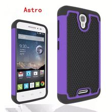 Hybrid combo case for Alcatel One Touch POP Astro with ball textured, for Alcatel One Touch POP Astro hard case
