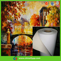 FLY glossy waterproof polyester oil painting canvas prints cheap china