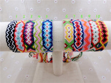 Friendship Bracelet 1-15 Handmade Charm Woven Rope String Hippy Boho Embroidery Cotton Friendship Bracelets For Women And Men