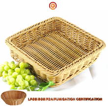 High quality durable oval fruit display plastic rattan basket