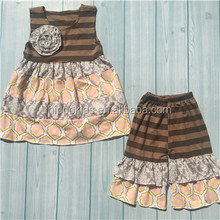 New arrival floral ruffle pants persinickety remake clothing sets stripe sweet child clothing children's Clothing Set