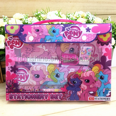 CU2433-3 2017 Sedex Factory Audit Manufacturer little pony funny school children customized stationery set