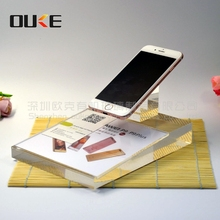 latest design simple graceful acrylic mobile phone display