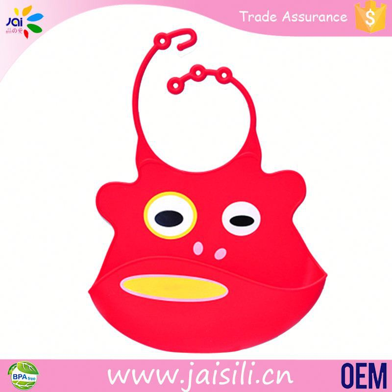 Animal shape newborn logo print bibs for baby new items 2011 silicone baby bib