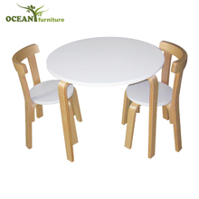 Wooden children dinning table kids furniture table and chair set