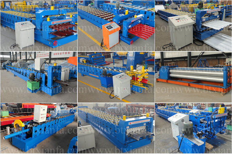 Roof Tile Color Steel Sheet Hydraulic Arch Roll Forming Machine