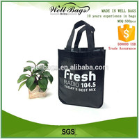 round shape bottom non woven glossy laminated tote bag wholesale