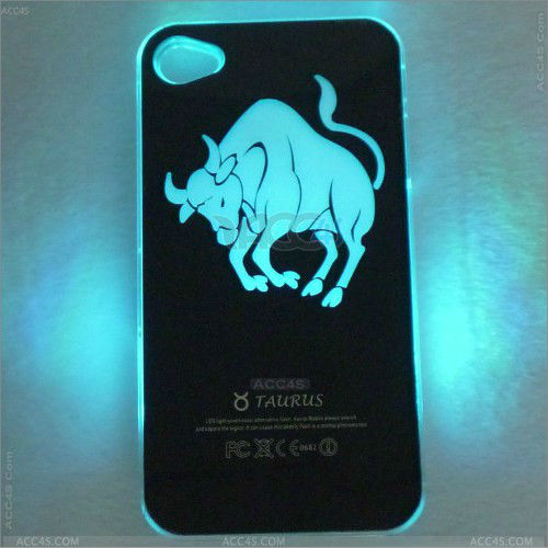 2013 mobile accessory hard case led flash light up for iphone led case P-iPHN4SHC030