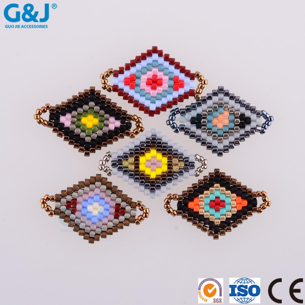 guojie brand Factory High quality colorful mew design DIY Japanese style Glass Bead