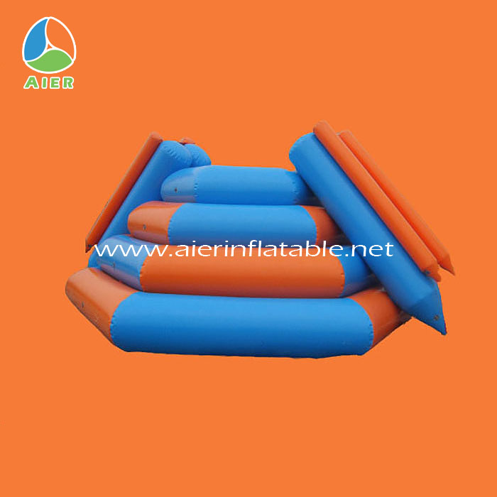Fun water sports station inflatable trampoline from china