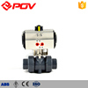 2 way pneumatic actuator upvc ball valve price list