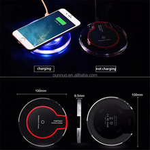 Hot Selling Sensitive Touch LED light QI Wireless Charger for iPhone X
