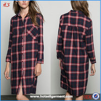 Best Selling Hot Chinese Products Woman's Blouse & Tops Casual Long Checked Shirts Trousers For Women