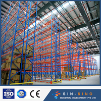 Durable colorful Chinese warehouse Heavy duty steel storage pallet rack