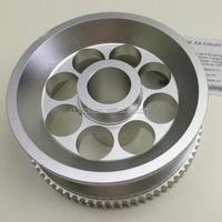 cnc aluminum crankshaft pulley, camshaft pulley for auto and motorcycle transmission