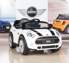 Kulaber white BMWW Mini Cooper 12V Electric Kids Licensed MP3 RC Remote Control Ride On Car