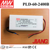 Meanwell 60W LED Driver Box 2400mA PLD-60-2400B Power Supply PFC Function