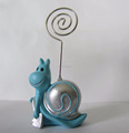 Polyresin snail statue desk memo clip for gifts