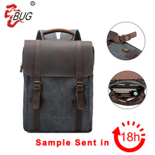 New arrived blue custom canvas backpack laptop bags for 14inch