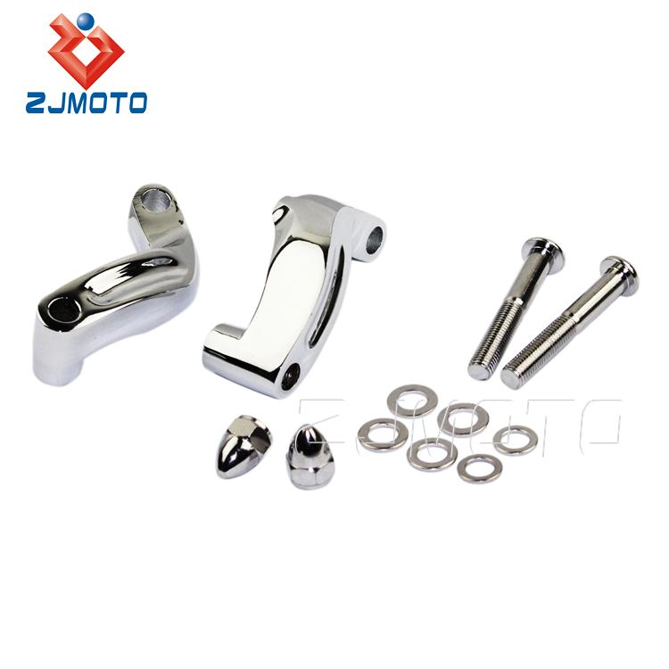 Chrome Aluminum Mirror Relocation Extension Adapter Kit for Harley Davidson 06-2014 Motorcycles