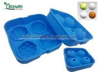 Latest new model, hot selling silicone ice cube tray with lid