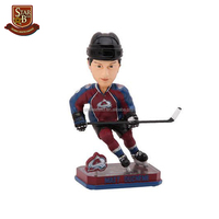 Factory price resin hockey player bobble head