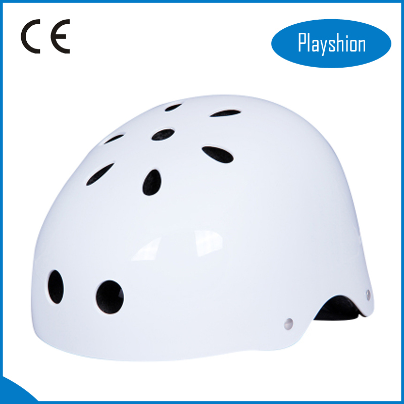 Kids classic skateboard scooter helmet white, red, black, blue