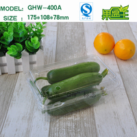 Disposable vegetable and fruit PET plastic packing box
