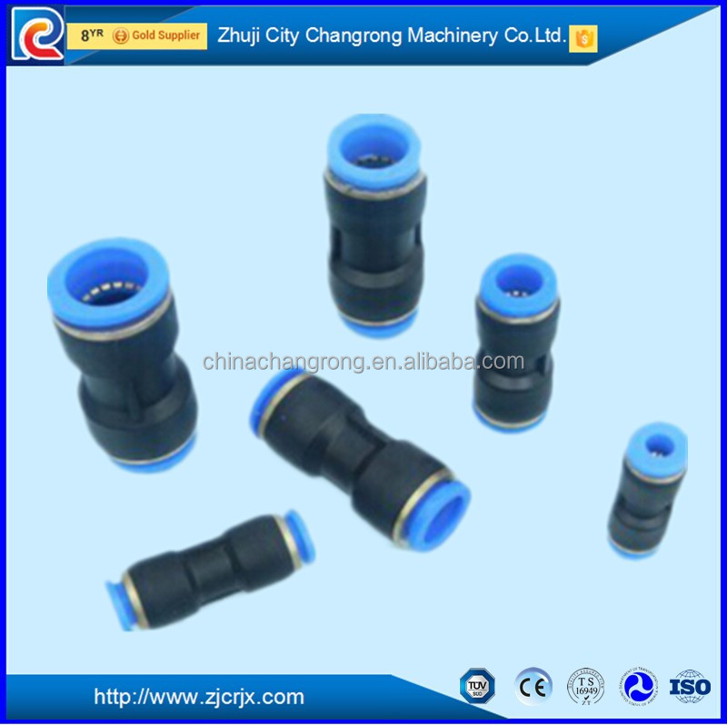 Quick connector plastic quick tee connect fitting 6mm plastic pneumatic fitting nylon or pu hose 6mm hose fitting