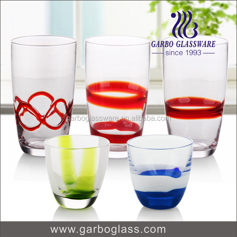 Grad A quality drinking water glass cup fancy whisky glass for wedding