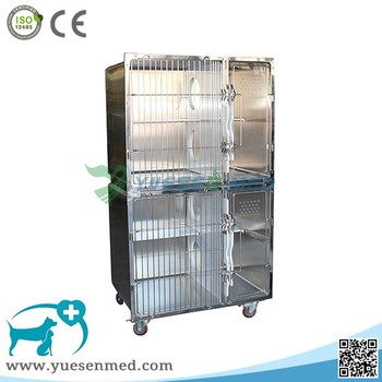 High quality 304 stainless steel cat cage cheap veterinary cages price