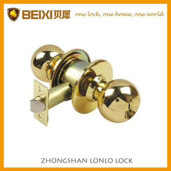 2016 South America Good quality brass ball knob door lock cylindrical door locks