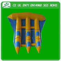 2015 New design Inflatable Water games fly fish(6 seats)
