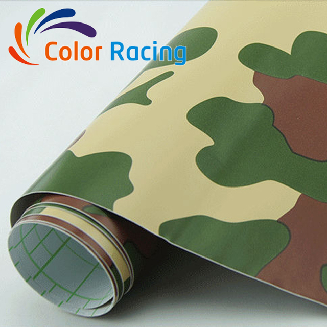 Top selling special car wrap camouflage car body lamination with air channel