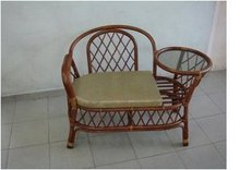 Rattan Telephone Table With Seat