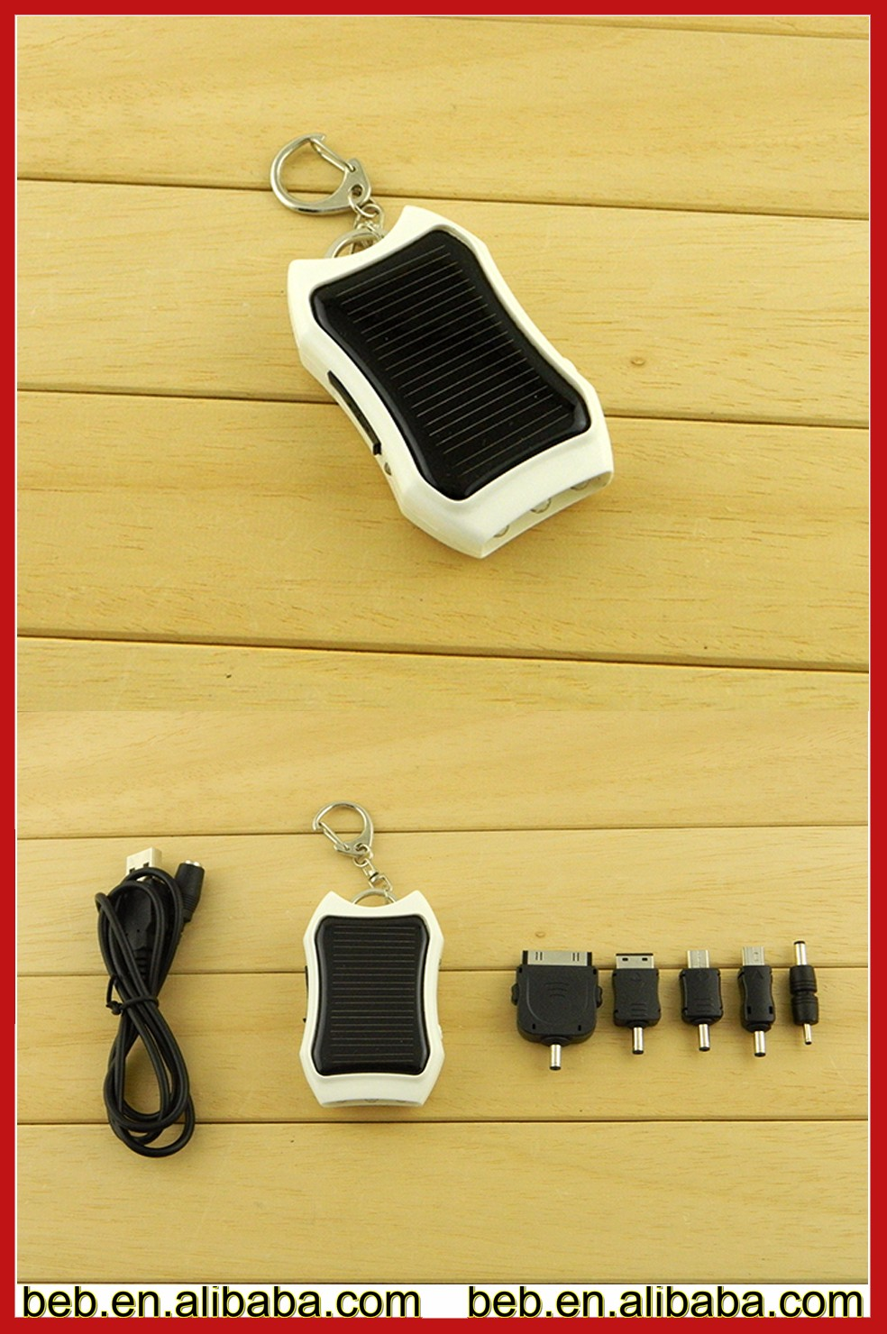 1200mah solar powered phone charger for iphone 5 6 7