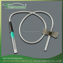 China medical disposable sterile butterfly type iv infusion vein set
