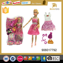 Beautiful fashion doll toy with dress and accessories