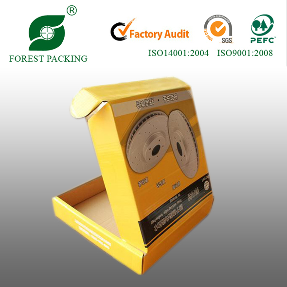 YELLOW PAINTED CARDBOARD ONE PIECE PACKING BOX FP801417