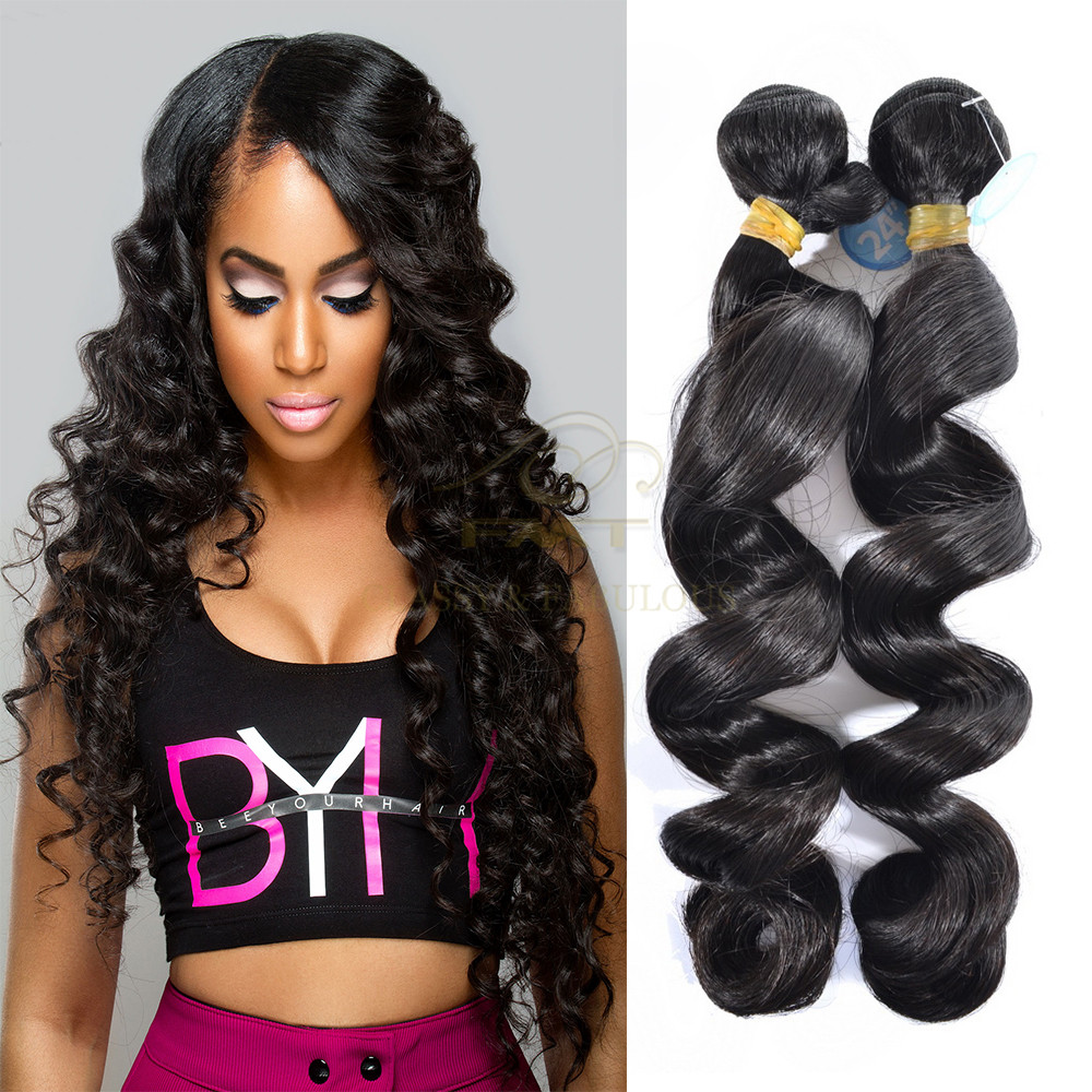 Peruvian Human Hair Loose Wave Hair Bundles Cheap Mink Hair Weave