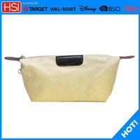 pu travel luggage bag cosmetic bag use for lip stick new style with Slither zipper